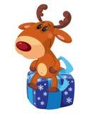 Deer on the box Stock Image