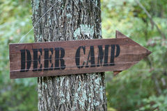 Deer camp sign Stock Images