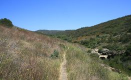 Deer Canyon Trail. Trail through Deer Canyon, Crystal Cove State Park, California Royalty Free Stock Photography