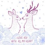 Deer card Stock Photos