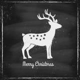 Deer on chalk board Stock Photo