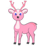 Deer character vector. Deer character pink cute color Stock Photos