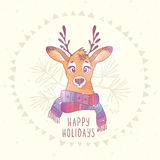 Deer christmas Stock Image