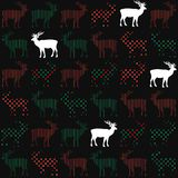 Deer Christmas holiday vector seamless pattern Royalty Free Stock Image