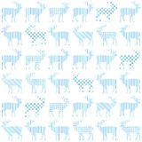 Deer Christmas holiday vector seamless pattern Royalty Free Stock Photos