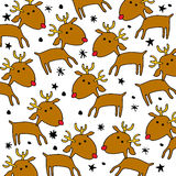 Deer christmas  illustration holiday design winter animal Stock Images
