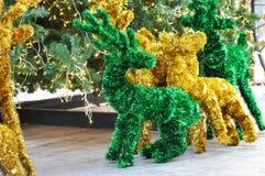 Deer christmas ornaments Stock Photography