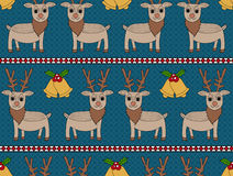 Deer Christmas Seamless Pattern Royalty Free Stock Photos