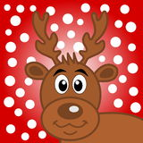 A deer of Christmas on snow background Royalty Free Stock Image