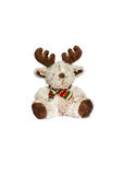Deer - christmas toy. Deer - christmas toy weared cap and scarf isolated over white Stock Images
