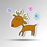Deer christmas vector illustration holiday design winter animal. Background Stock Image