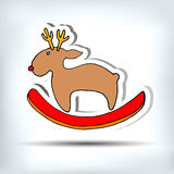 Deer christmas vector illustration holiday design winter animal Stock Photo