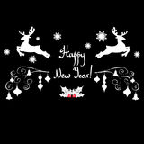 Deer christmas vector illustration holiday design winter animal. Background Royalty Free Stock Photo