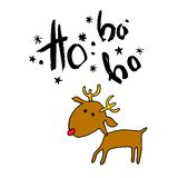 Deer christmas vector illustration holiday design winter animal. Background Royalty Free Stock Images