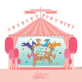 Deer circus decoration Royalty Free Stock Images