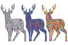 Deer colorful color. Illustration drawing deer colorful color  white color background graphic element Royalty Free Stock Photography