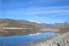 Deer Creek reservoir, Utah. Mountains reflected in Deer Creek Reservoir, Utah Stock Photography