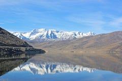 Deer Creek reservoir, Utah. Deer Creek Reservoir in Utah in winter Stock Photos