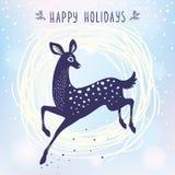 Deer cute stylized Stock Image