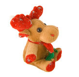Deer decoration. Deer toy - profile isolated on white background stock image