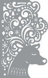 Deer. Decorative Card. Laser cutting template. This illustration can be used for laser cutting Stock Illustration