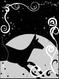 Deer in design. Horse  on abstract design abstract backgroud Royalty Free Stock Photos
