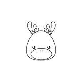 Deer Drawing Face Royalty Free Stock Photography