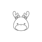 Deer Drawing Face Stock Image