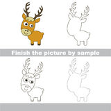 Deer. Drawing worksheet. Royalty Free Stock Image