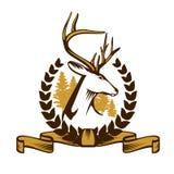 Deer Emblem Royalty Free Stock Images