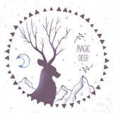 Deer ethnic Royalty Free Stock Photo
