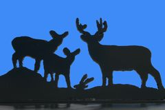 Deer Family Silhouette Royalty Free Stock Photography