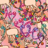 Deer fashion colorful seamless pattern Stock Image