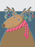 Deer Fat_eps. Illustration of design fat deer to write your sample text top and body. --- This .eps file info Version: Illustrator 8 EPS Document: 9 * 12 Inches vector illustration