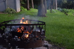 Deer Fire Pit Royalty Free Stock Image