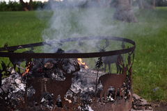 Deer Fire Pit Royalty Free Stock Photography