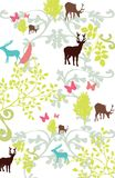 Deer and floral composition Royalty Free Stock Images