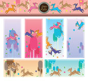Deer fly bookmark set Stock Image