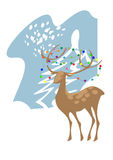 A deer in the forest. A deer in the clearing of the winter forest Royalty Free Stock Photography