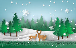 Deer in the forest. Royalty Free Stock Image
