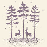 Deer and forest Royalty Free Stock Photo