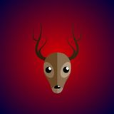 Deer on the gradient background. It can be used as icons. Isolated Royalty Free Stock Image
