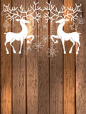 Deer with great horns and decorations for beautiful Holiday desi Stock Image