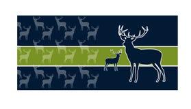 Deer Greeting Card Royalty Free Stock Images