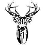Deer head. Wildlife sign, symbol Stock Photo
