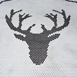 Deer head abstract by tiles  on a white backgrounds, Royalty Free Stock Images