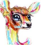 Deer. head avatar figure paints. Deer head avatar figure paints Stock Images