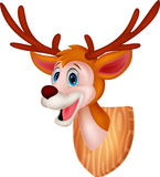 Deer head cartoon Royalty Free Stock Image