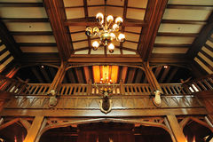 Deer head in castle. Interior look of deer head in historic hatley castle (built in 1908) at the city colwood in vancouver island, british columbia, canada royalty free stock image
