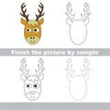 Deer Head. Drawing worksheet. Royalty Free Stock Photos
